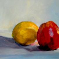 Fruit. Olieverf op papier.