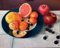 Grapefruit, 100 x 120 cm, olieverf op linnen.