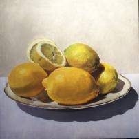 citroenen, 100 x 100 cm, olieverf op linnen