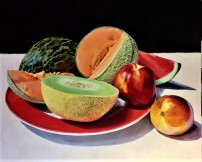 Meloenen, 100 x 120 cm, olieverf op linnen